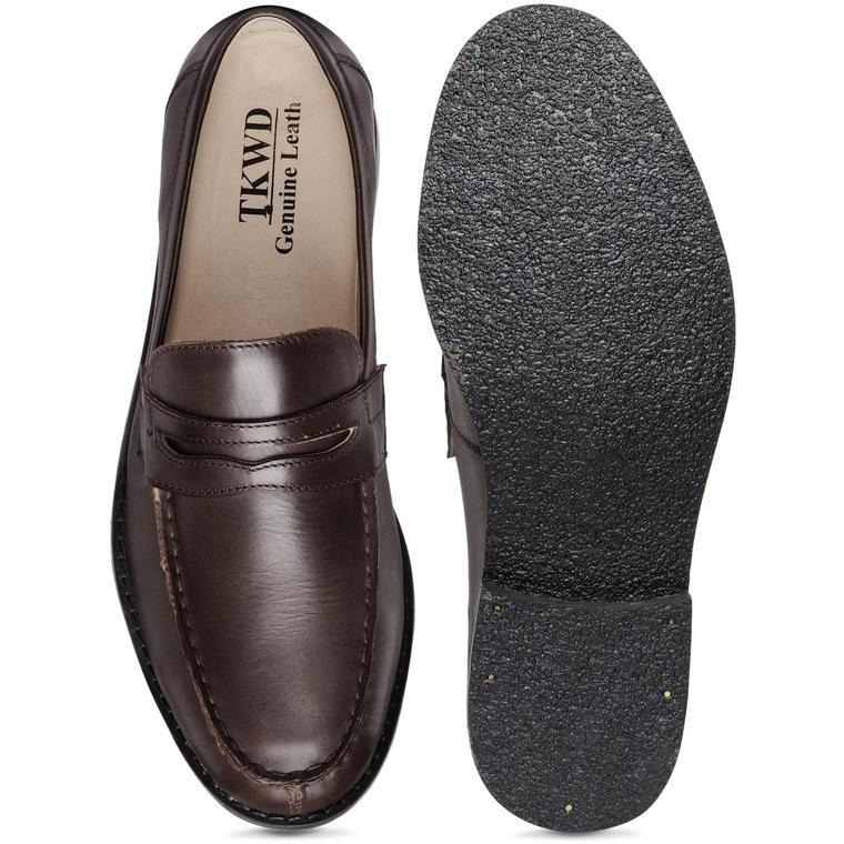 Teakwood Leather Brown Formal Shoes (Size:42)