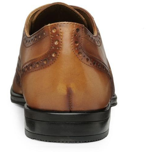 Teakwood Leather Tan Formal Shoes (Size:42)