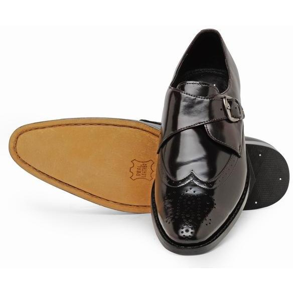 Teakwood Leather Brown Formal Shoes (Size:40)
