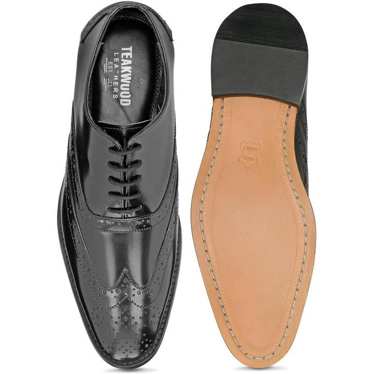 Teakwood Leather Brown Formal Shoes
