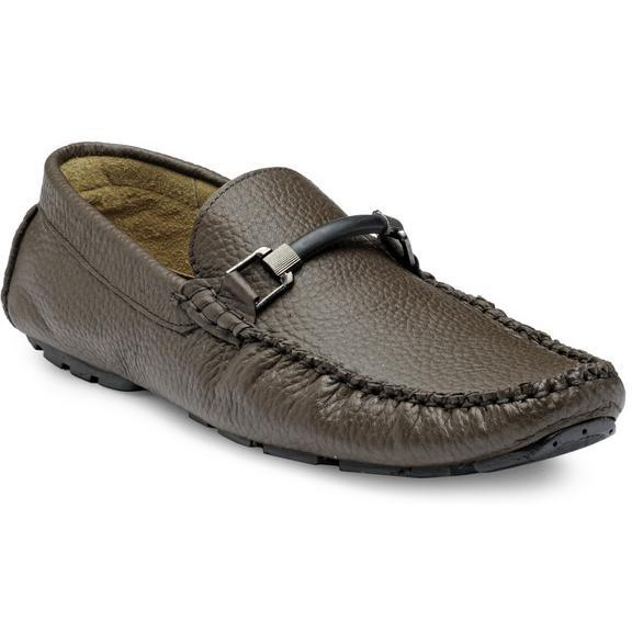 Teakwood Leather Tan Loafer Shoes (Size:44)