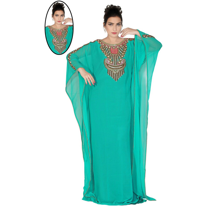 79af76b855bb Moroccan Kaftan Long Maxi Dress Abaya Dubai Caftan Jilbab Islamic Kheleeji  jalabiya