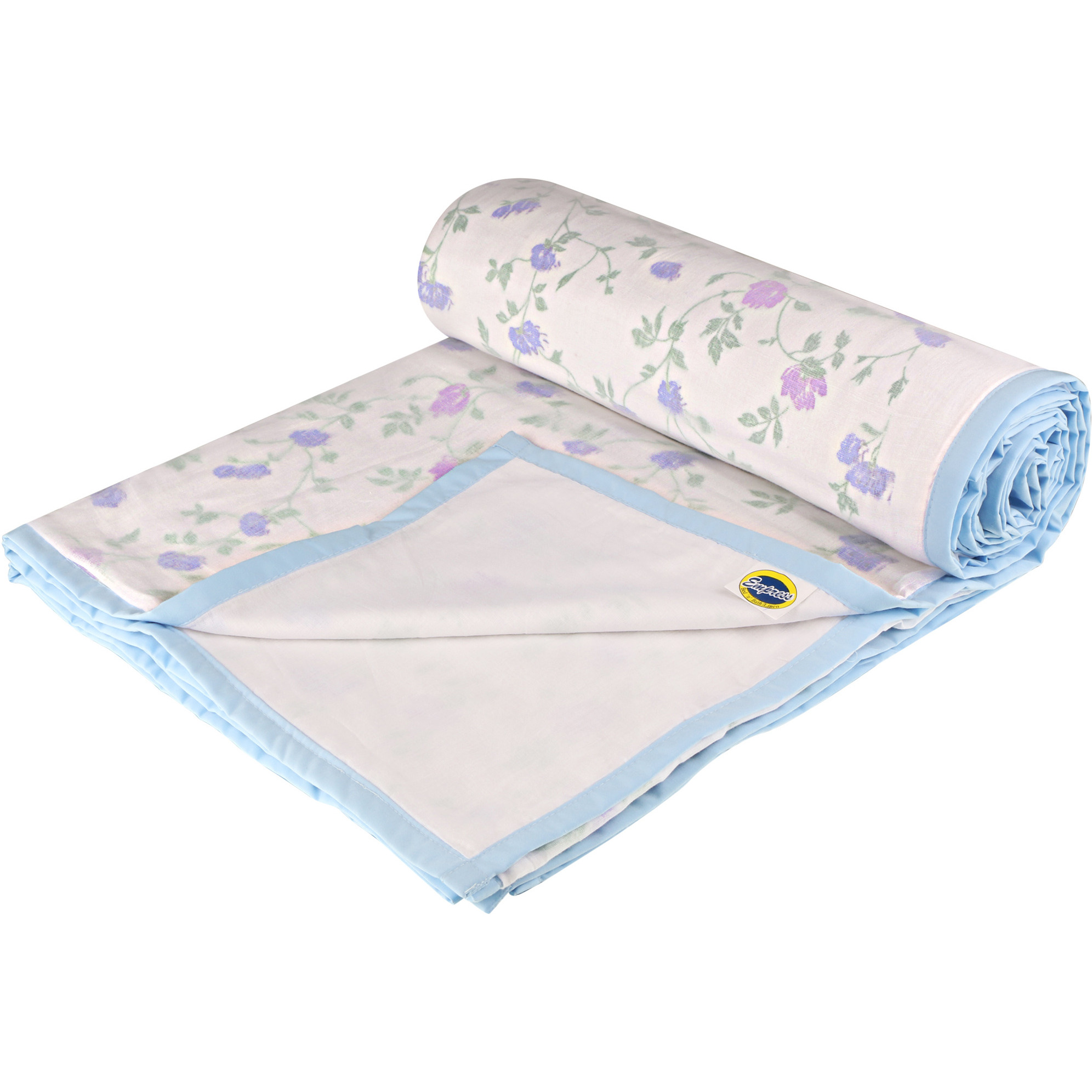 Home Furnishing Bedding Comfortable Purple Floral Cotton Single Dohar bedspread