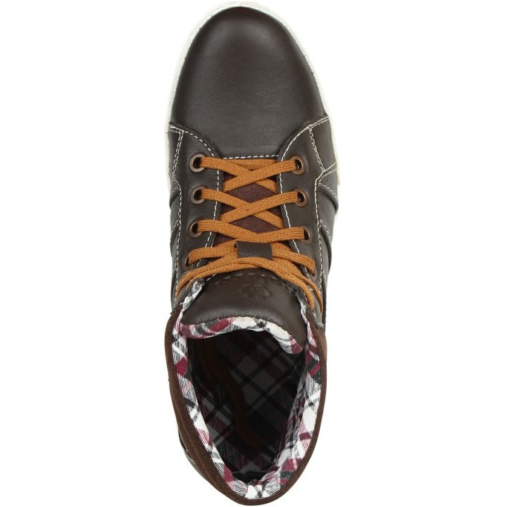 Molessi Brown Leather Casual Shoe (Size:UK/IND-6)