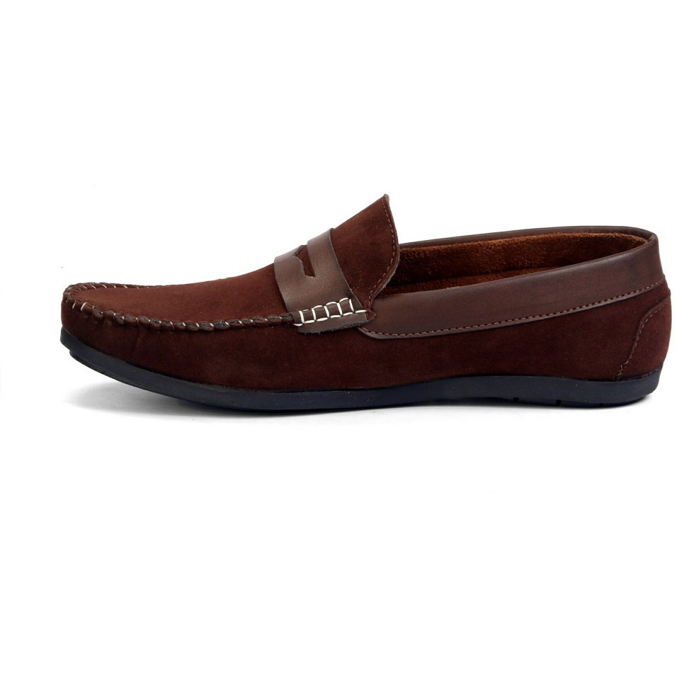 Molessi Brown Suede Loafer (Size:UK/IND-7)