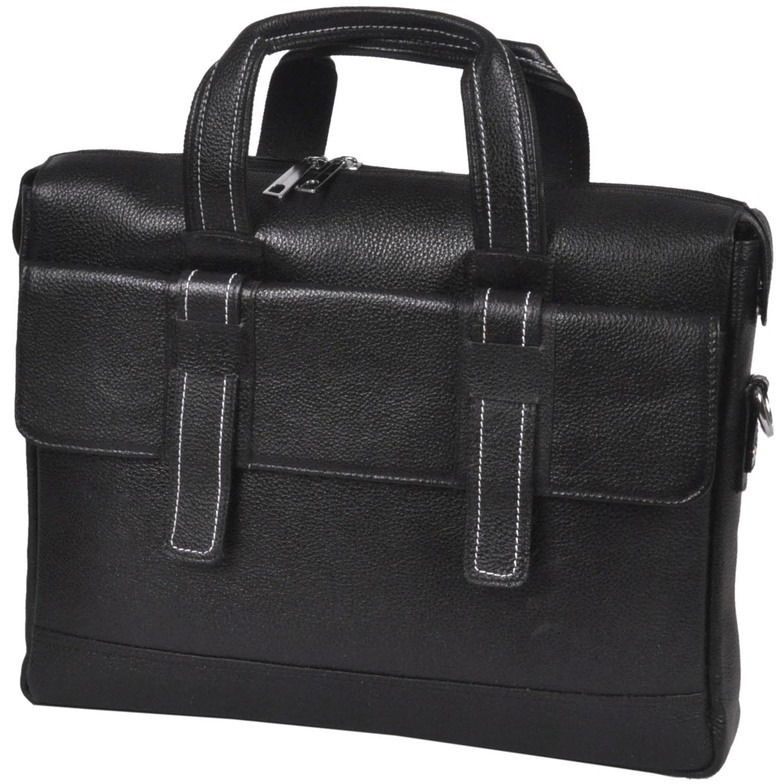 Bagjack - Velorum-I adds a professional finish black leather office bag