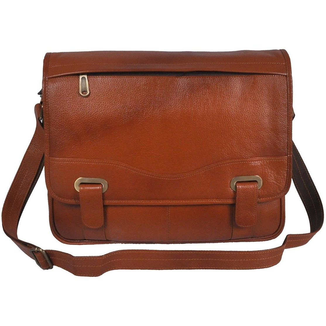 Bagjack - Bellatrix-I is one of our most eye-catching tan color leather laptop bag.