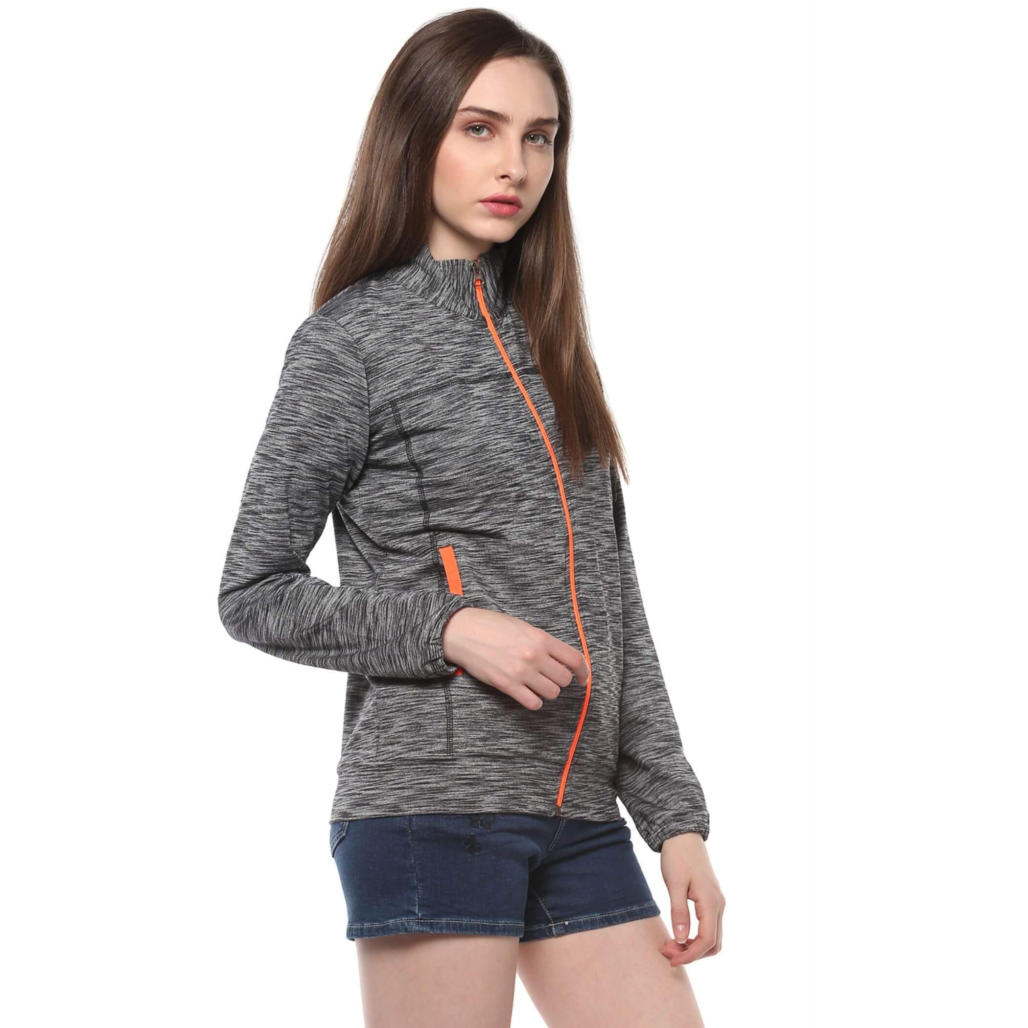 High Collar Jacket With Contrast Colors (Size:L)
