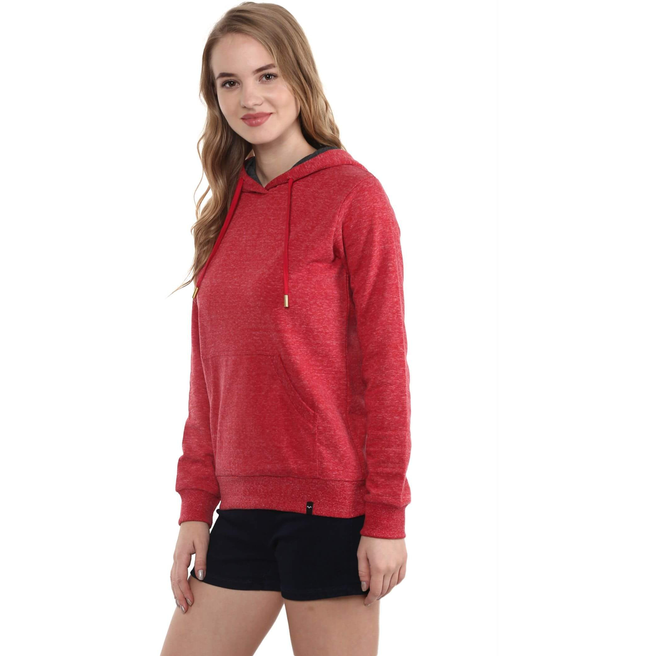 Hooded Sweatshirt With Front Pocket (Size:XL)