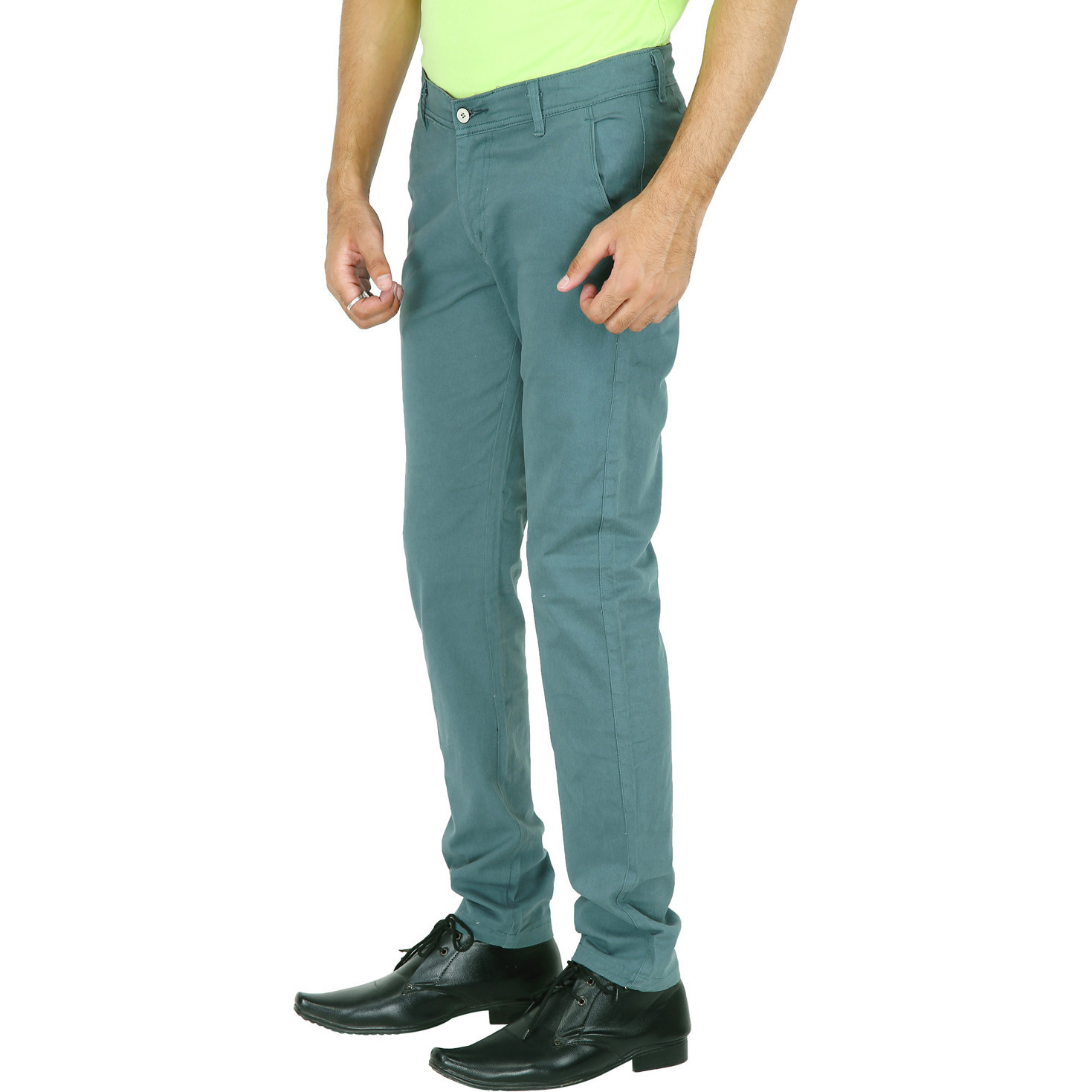 Stallion Green Casual Men's Chinos Trouser by Be You