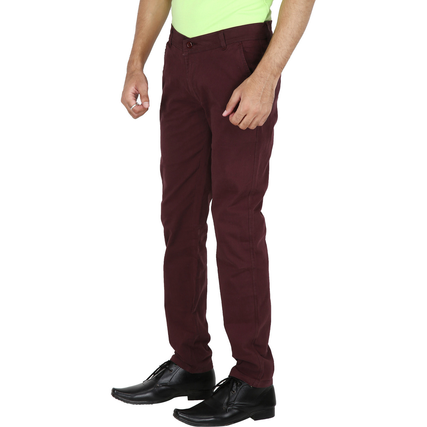 Stallion Maroon Casual Men's Chinos Trouser by Be You (Size:36)