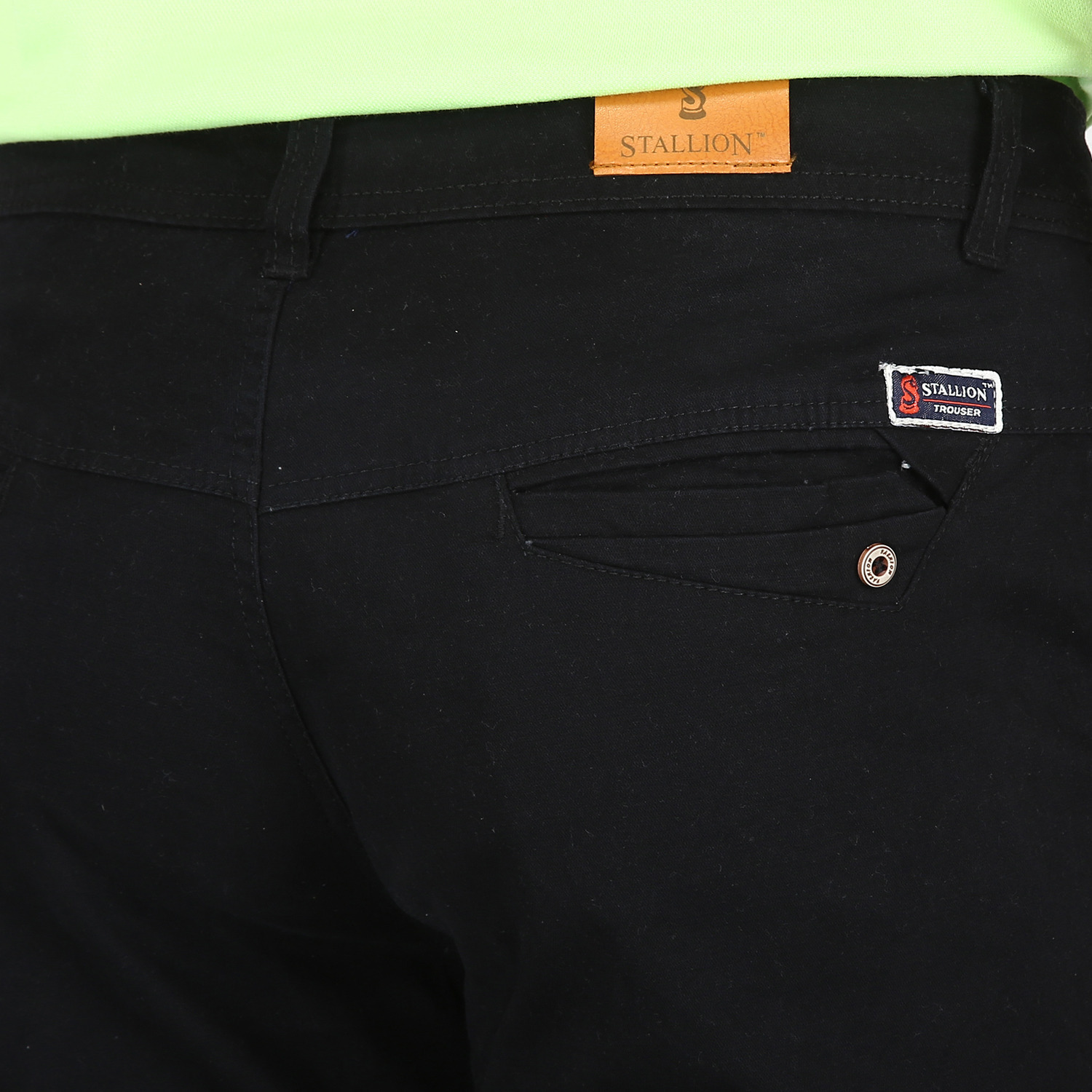 Stallion Black Casual Men's Chinos Trouser by Be You (Size:30)