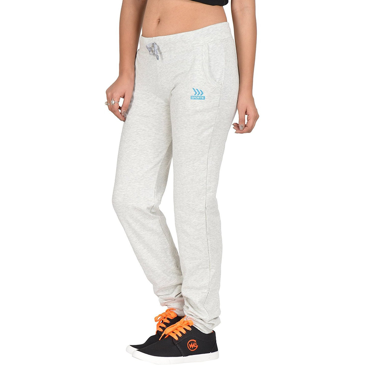 Be You Cotton Hoisery Navy-Grey Women Trackpants Combo pack of 2