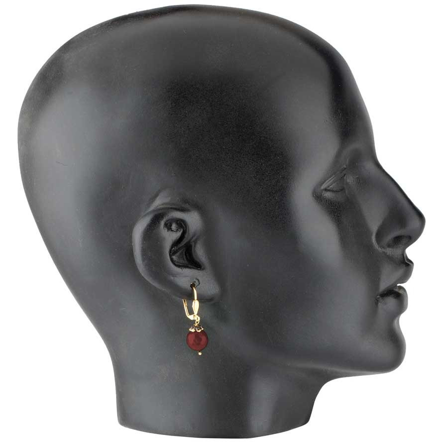 Red Bali Rhodium Plated Drop Earring for Women