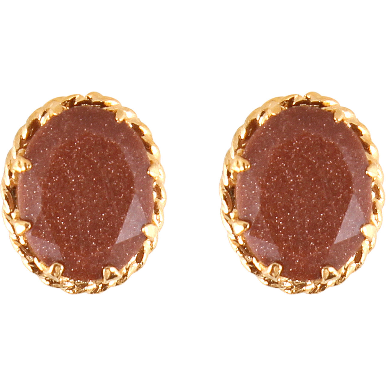 Contemporary Brown Sandstone Studded Rhodium Plated Earring, Pendant & Ring Set for Women
