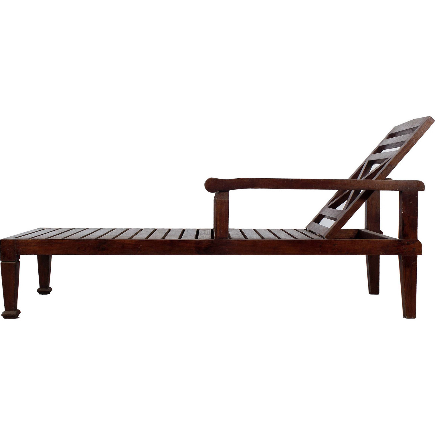 Buy line SOLID TEAK WOOD BEACH CHAISE LOUNGE CHAIRB DARK WOOD