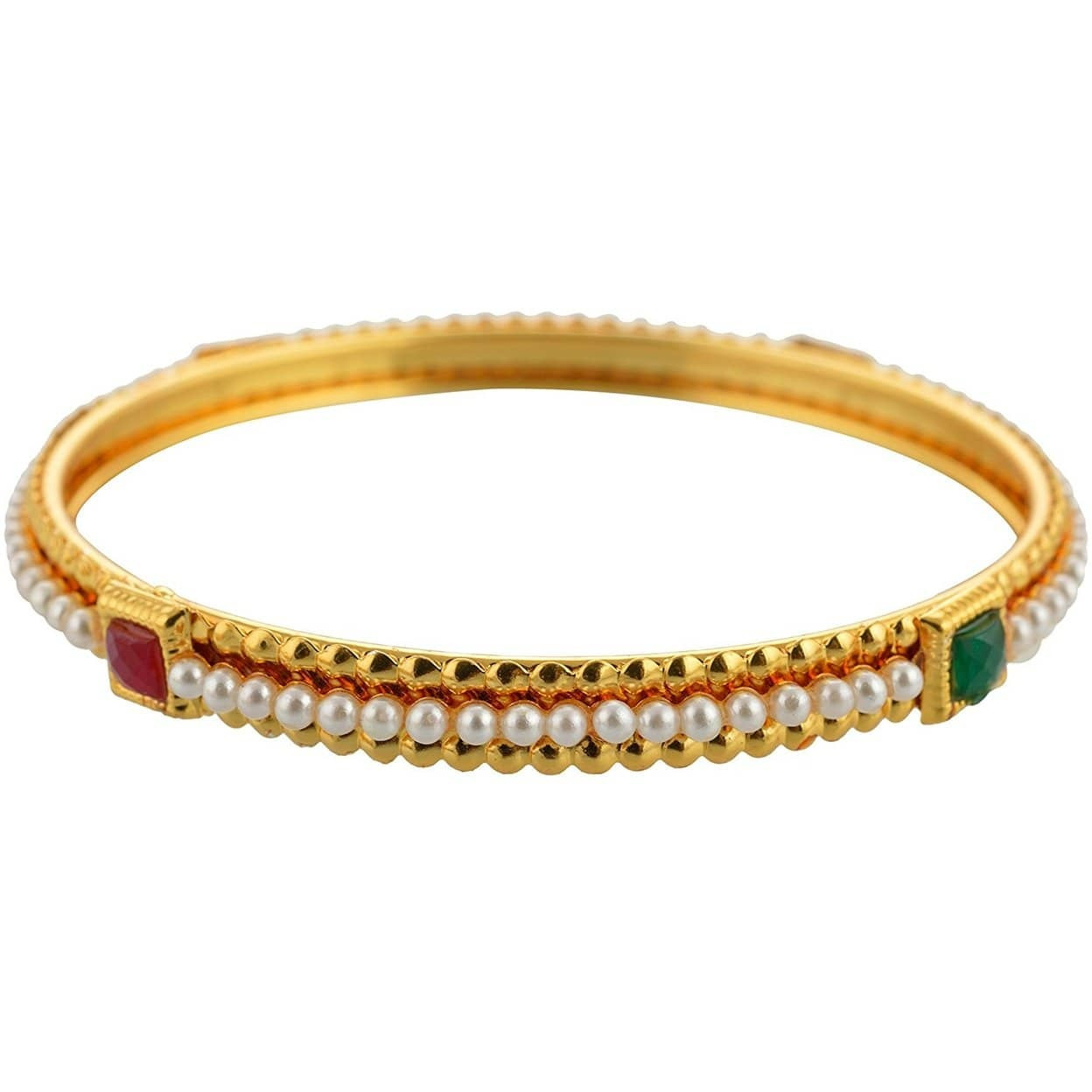 Indian Traditional Golden Plated  alloy Bangle Set For Women
