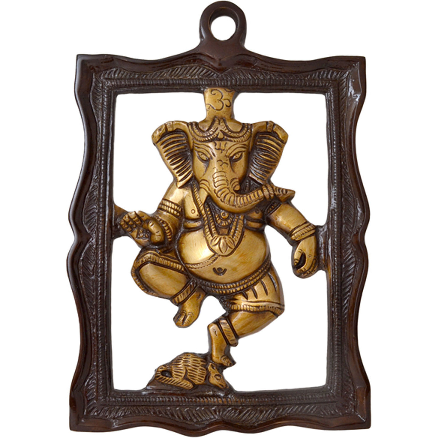 Aakrati Two tone Ganesh Decorative hanging Statue
