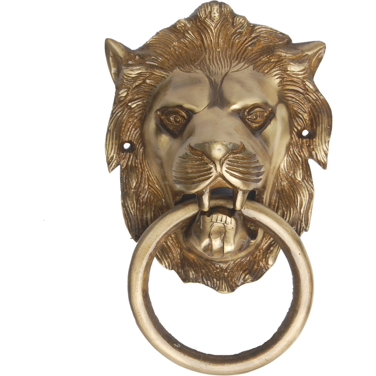 Aakrati Lion Door Knocker in Antique Finish