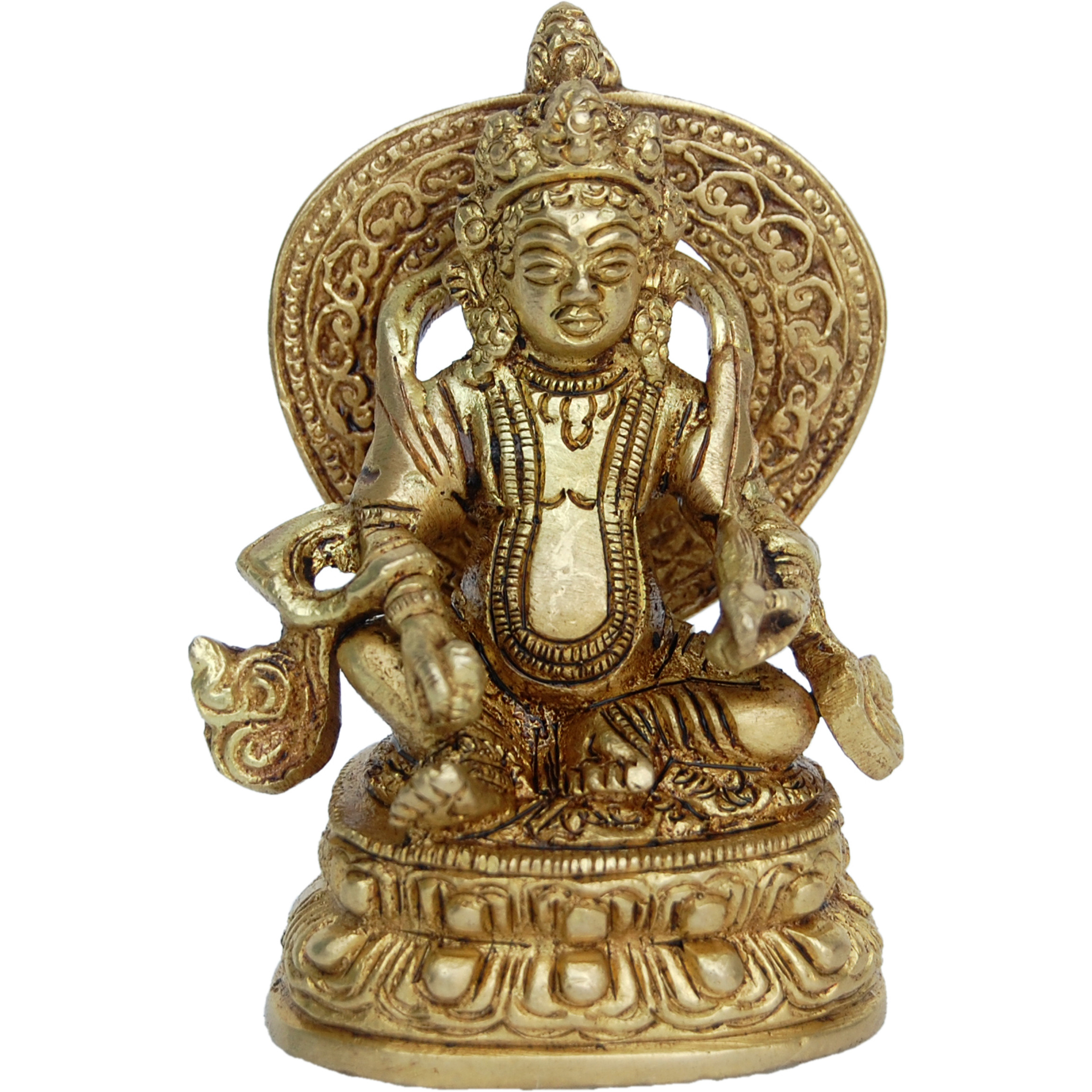 Lord Kuber Brass Statue for Hoem Temple