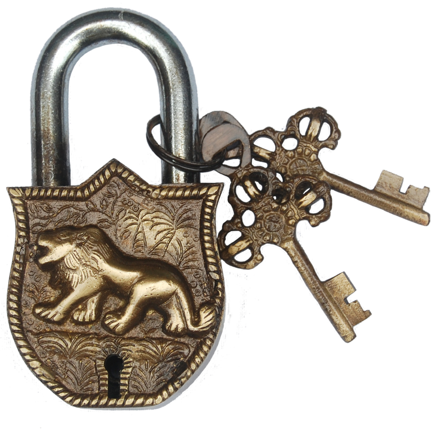 Aakrati Handicraft Pad Lock Of Lion Figure