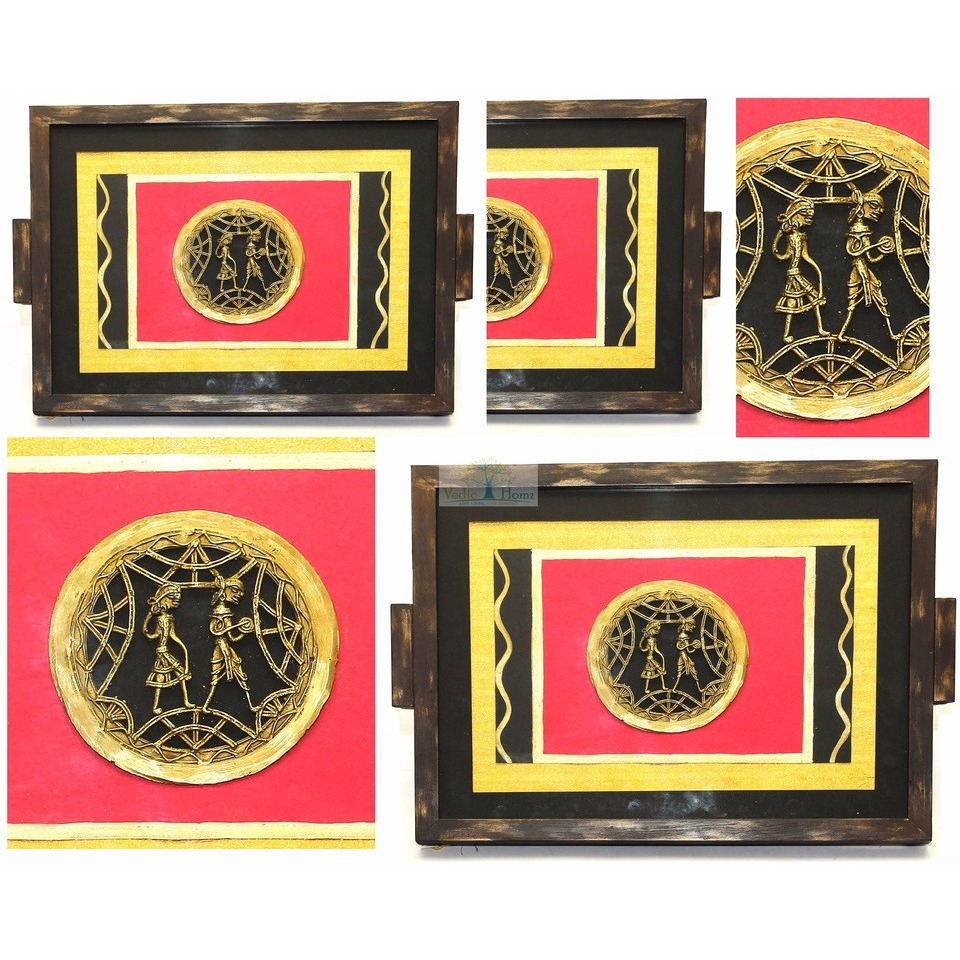 INDIAN HANDICRAFTDHOKRA TRAY