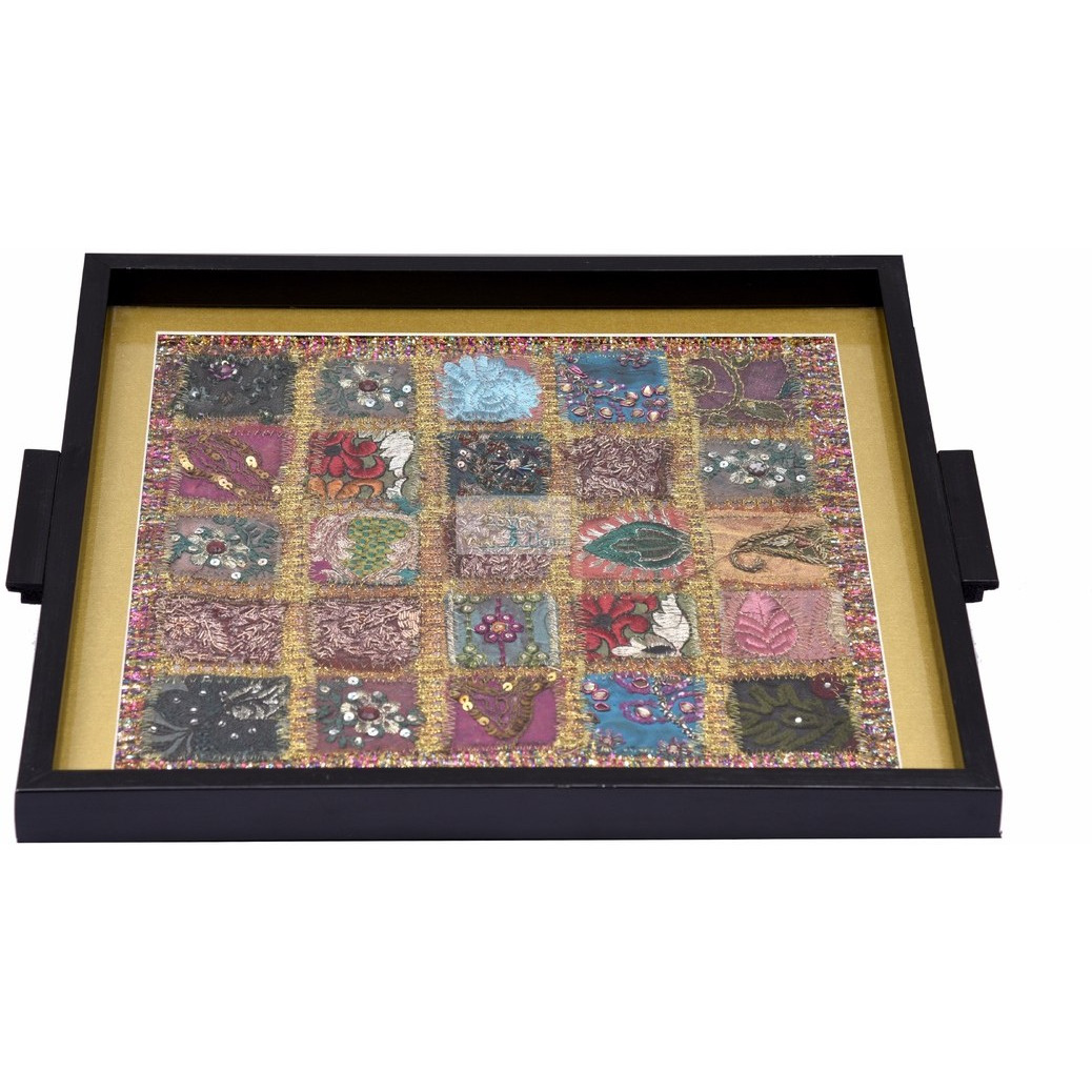 INDIAN HANDICRAFTPATCH WORK TRAY