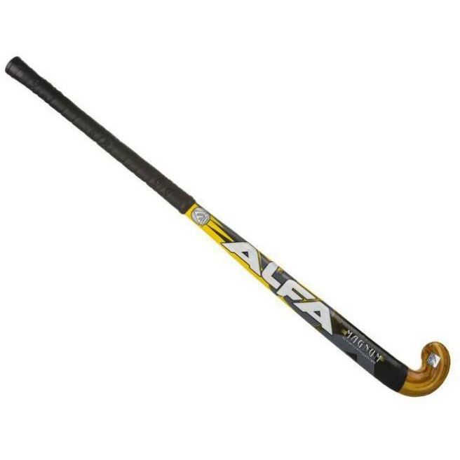 Alfa Magnum Sticker Hockey Stick 35 Inch Fibre glass Strong laminated handle