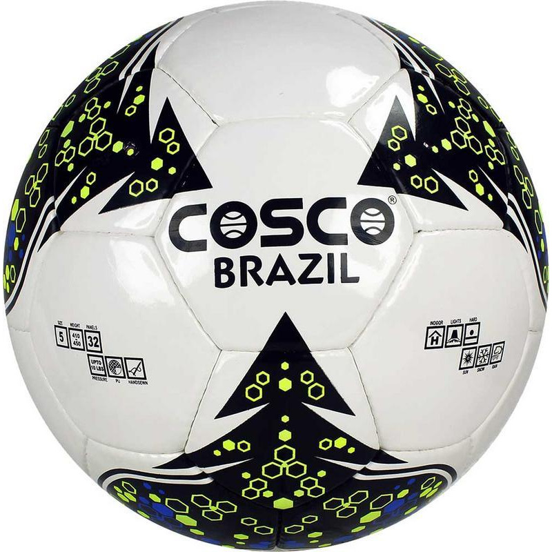 Cosco Brazil Football Size 5 long lasting ball Made with Imported PU