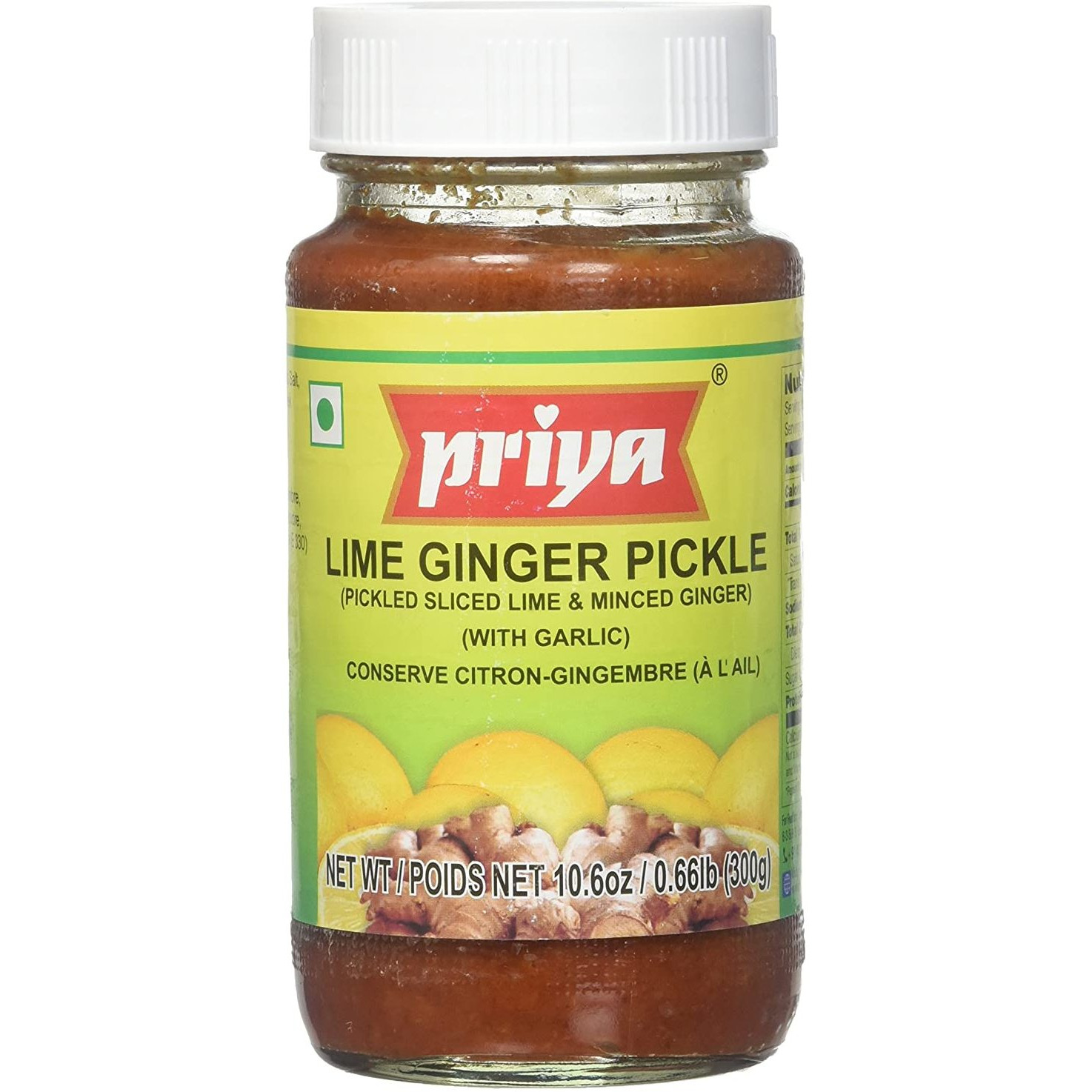 Priya Lime Ginger With Garlic Pickle - 300 Gm