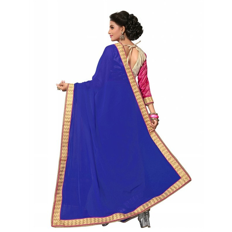 Aadya Couture Party Wear Blue Color Saree