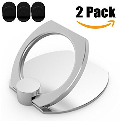 Alope Cell Phone Metal Ring Holder, Universal Finger Grip Hook And Stand