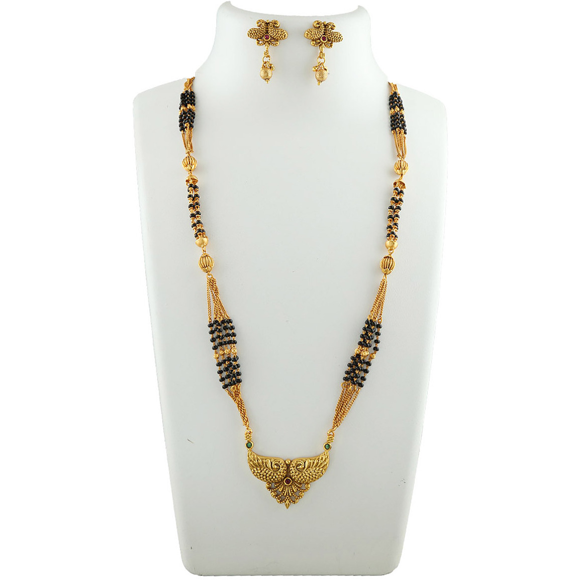 Anuradha Art Golden Finish Stylish Designer Mangalsutra For Women