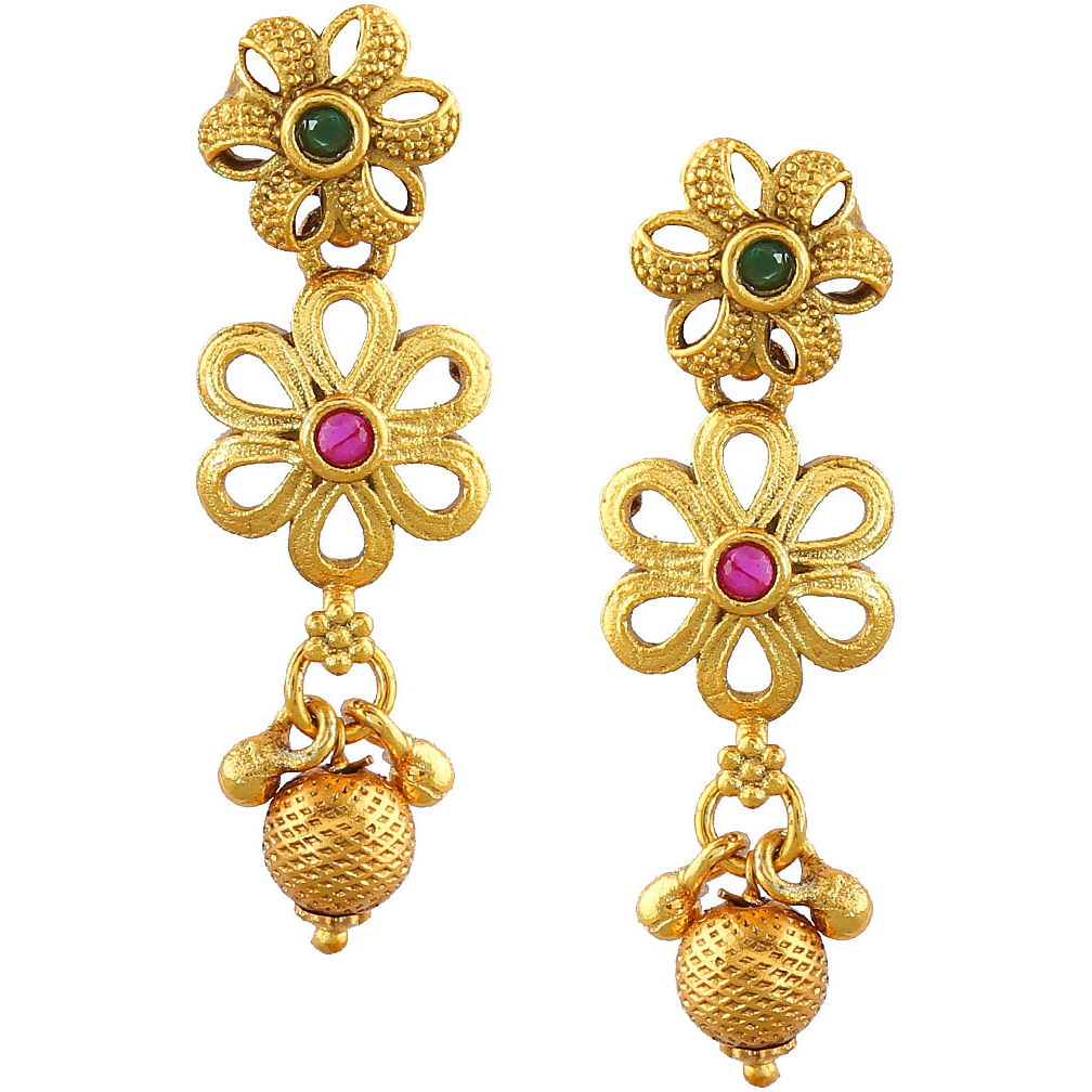 Anuradha Art Golden Finish Beautiful Flower Style Royal Look This Adorable Designer Multiple Layers Mangalsutra For Women