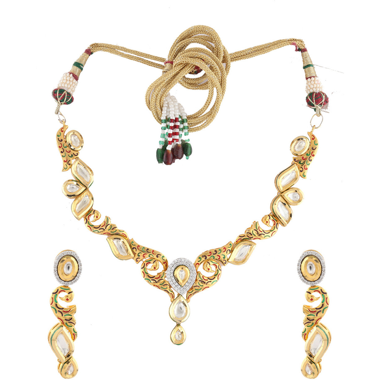 Buy Online Anuradha Art Matte Golden Finish Styled With American ...