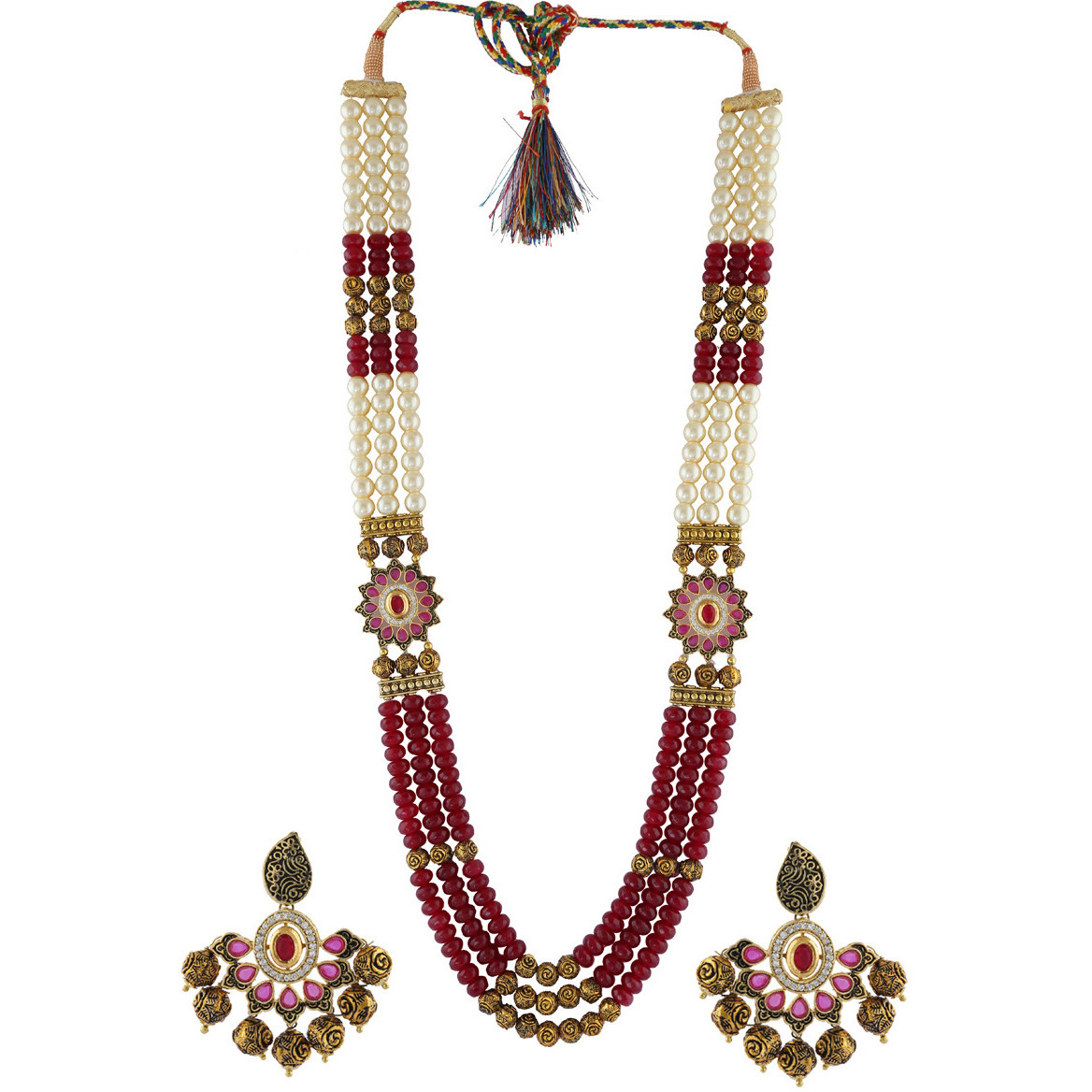 bf2add72d Buy Online Anuradha Art Maroon Colour Designer Wonderful Classy Traditional  Long Necklace Set For Women Girls from USA - Zifiti.com - Page