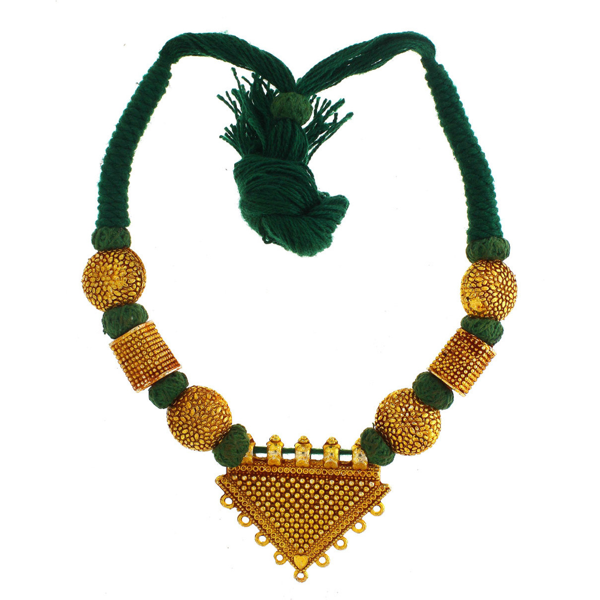chain onyx balls gold with plated beads colour and designer green sets necklace