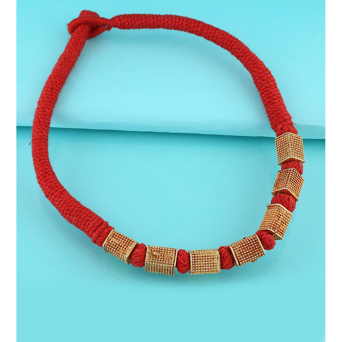 Anuradha Art Red Colour Styled With Geru Polish Carved Design Traditional Maharashtrian/Rajasthani Necklace For Women/Girls