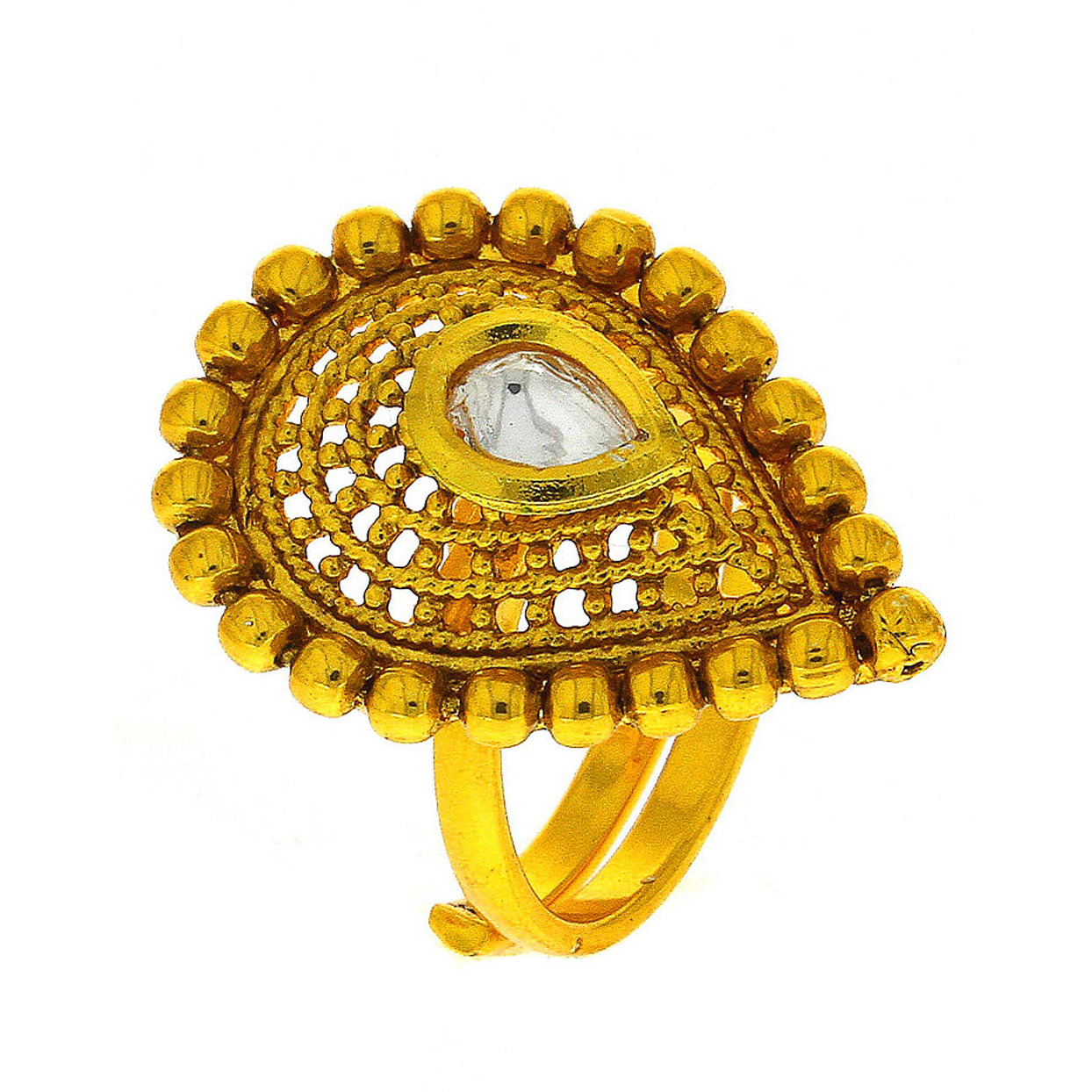 Buy Online Anuradha Art Golden Finish Drop Shape Designer Wonderful ...