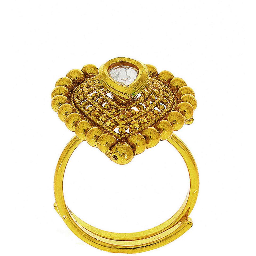 Buy Online Anuradha Art Golden Finish Drop Shape Designer ...