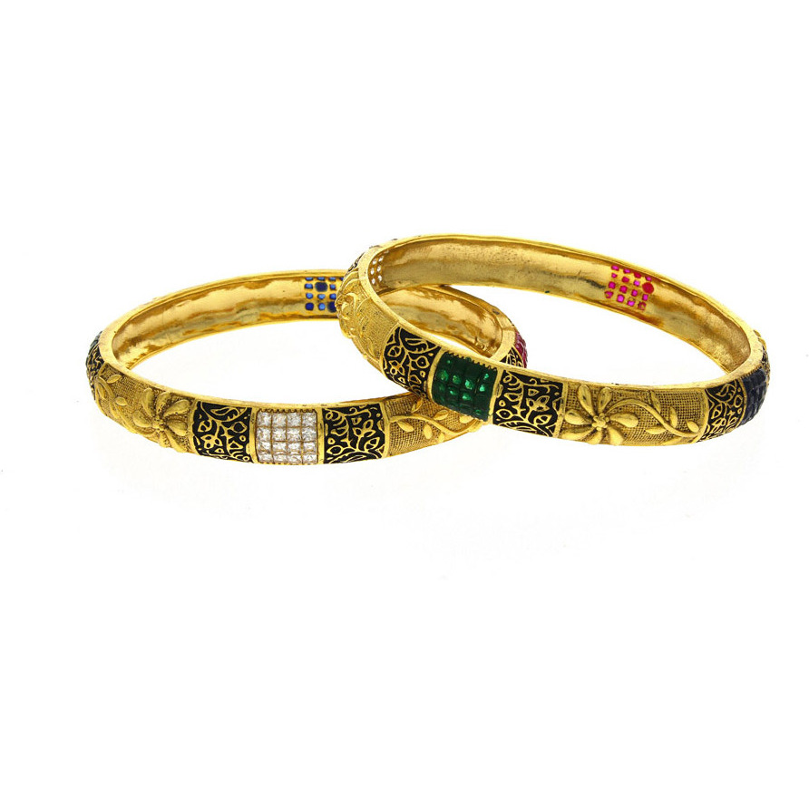 Anuradha Art Gold Finish Studded With Sparkling Stone Wonderful Classy Traditional Bangles Set For Women/Girls