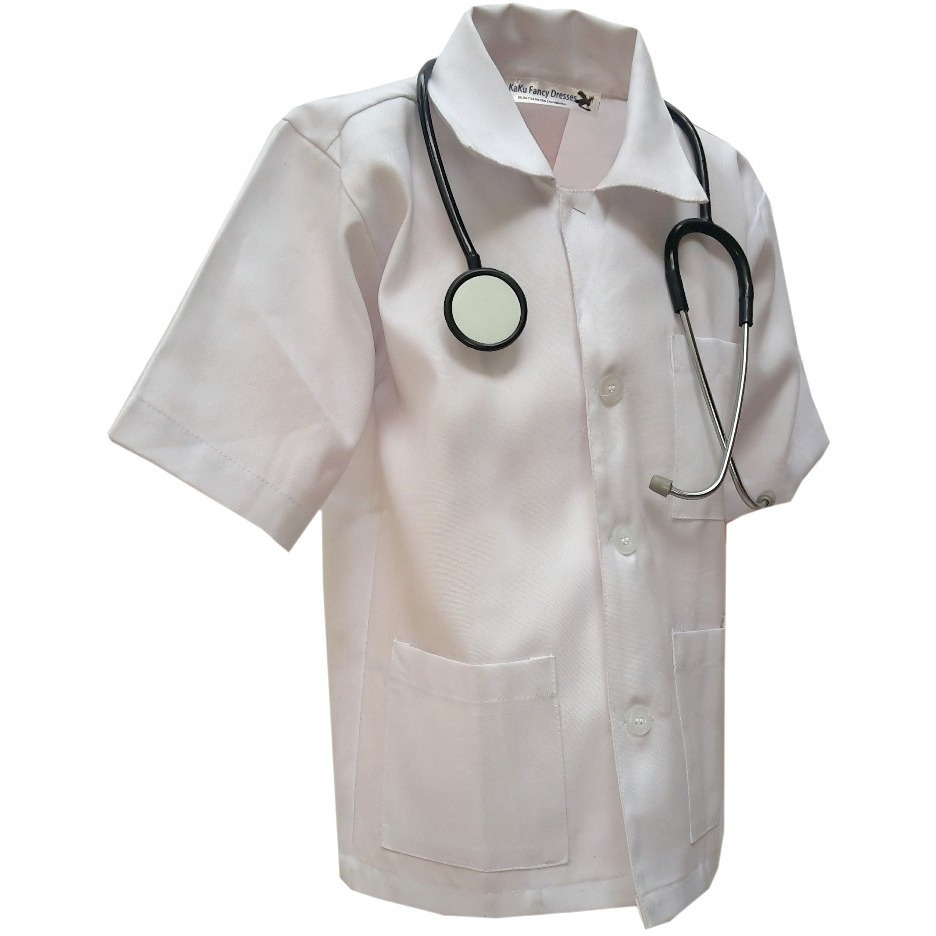 KFD Docter Fancy Dress For Kids,Our Helper Costume for Annual Function/Theme Party/Competition/Stage Shows Dress