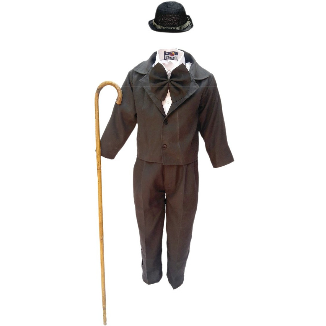 KFD Charlie Chaplin fancy dress for kids,Comic Character Costume for Annual function/Theme Party/Competition/Stage Shows/Birthday Party Dress