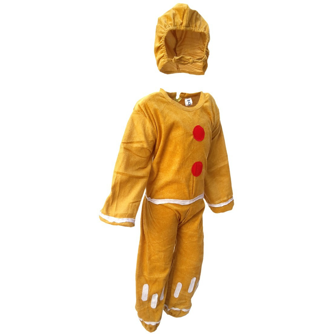 KFD Ginger Bread fancy dress for kids,Fairy Teles,Story book costume for Annual function/Theme Party/competition/Stage Shows/Birthday Party Dress (Size:7 TO 8)