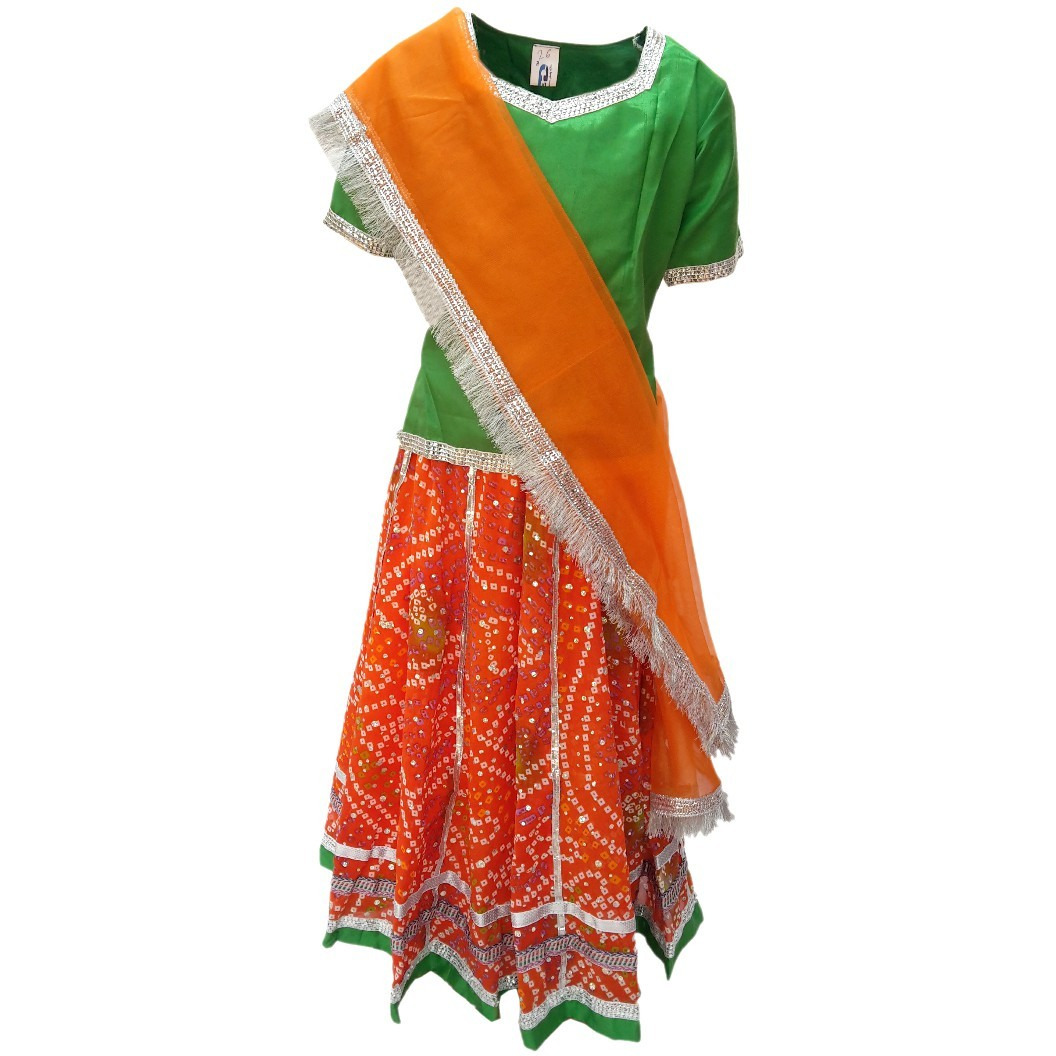 Buy Online Kfd Rajasthani Lehnga Fancy Dress For Kids