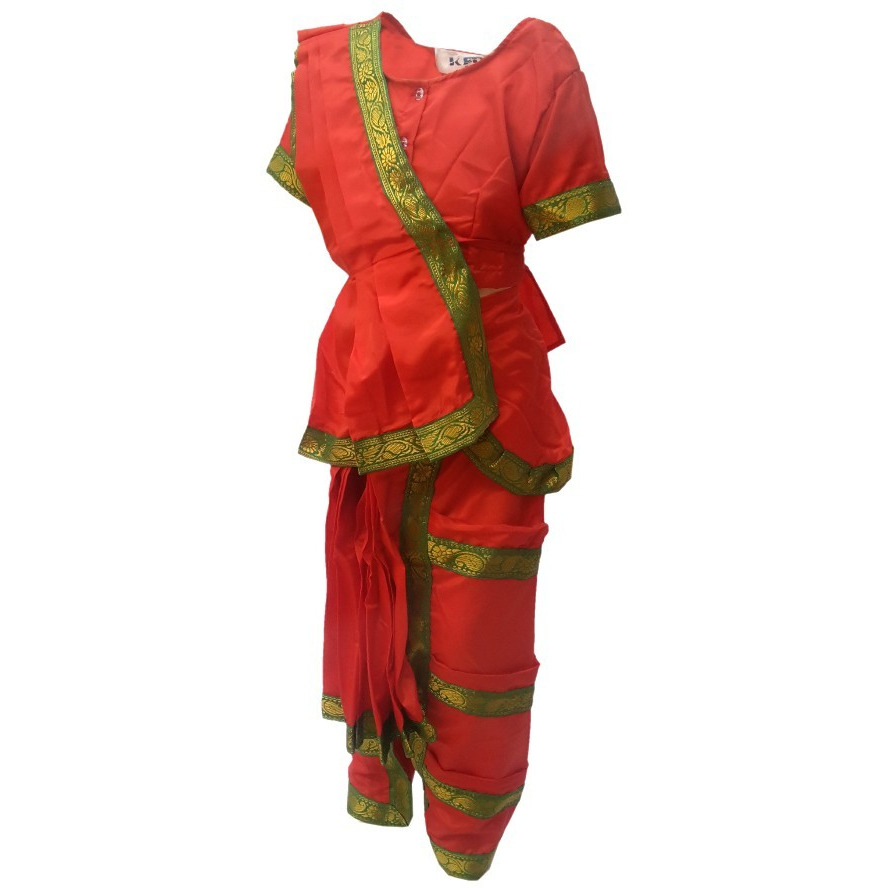 KFD Bharatnatyam fancy dress for kids,Indian Dance Traditional Wear for Annual function/Theme Party/Competition/Stage Shows/Birthday Party Dress