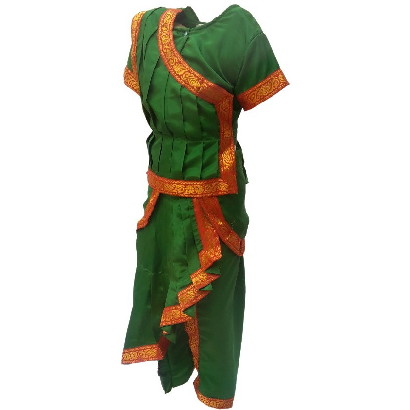 KFD Odissi fancy dress for kids,Indian Dance Traditional Wear for Annual function/Theme Party/Competition/Stage Shows/Birthday Party Dress