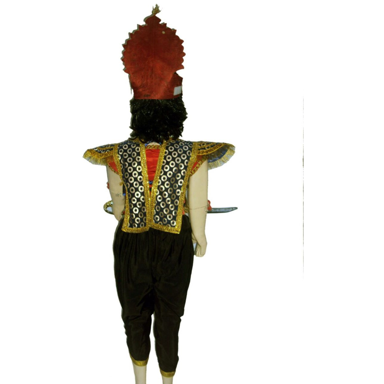 KFD Ravan Kavach fancy dress for kids,Ramleela/Dussehra/Mythological Character for Annual function/Theme Party/Competition/Stage Shows Dress