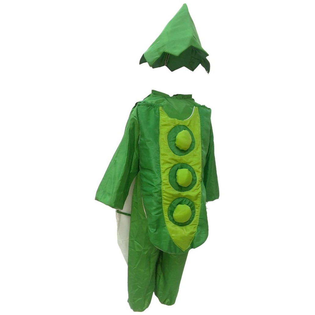 KFD Peas fancy dress for kids,Vegetables Costume for School Annual function/Theme Party/Competition/Stage Shows Dress (Size:7 TO 8)