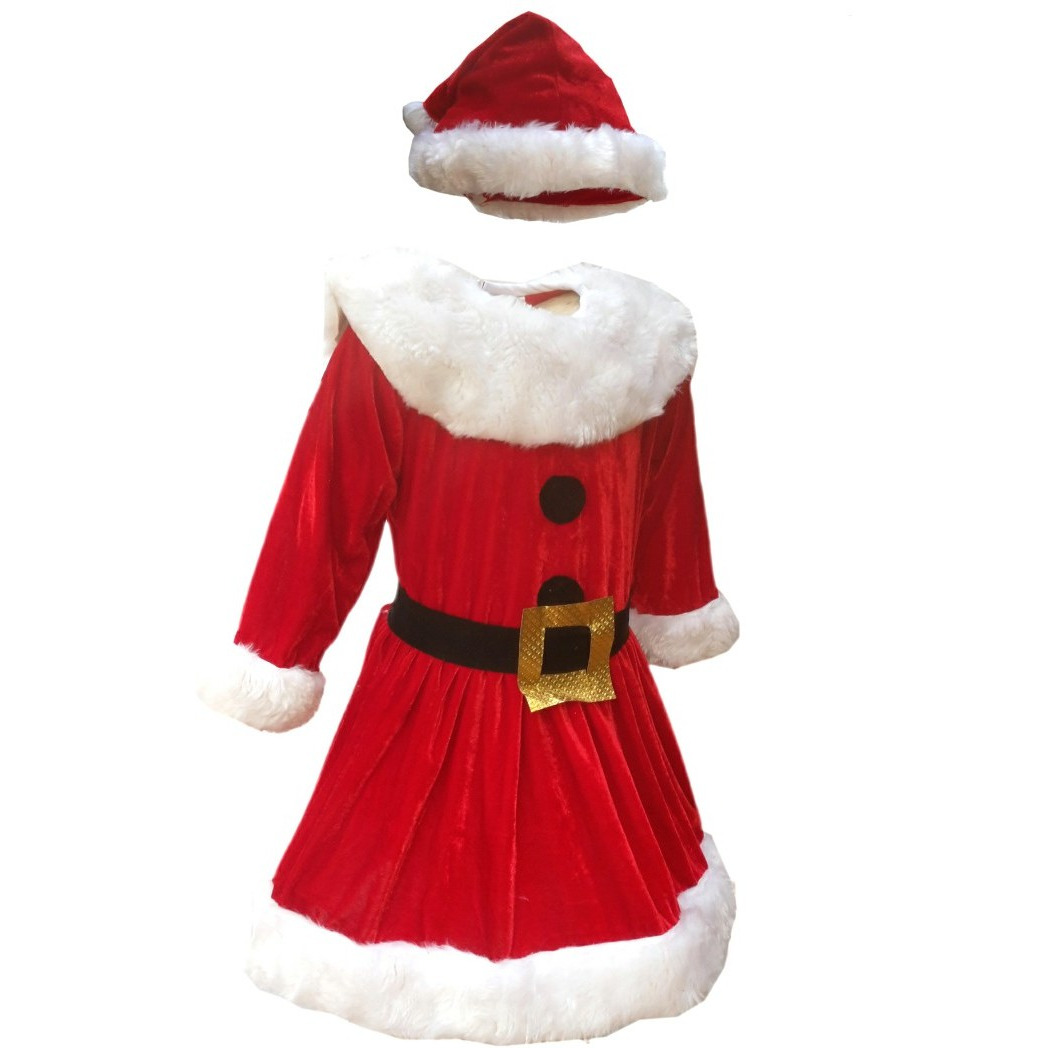 kfd santa girl fancy dress for kidschristmas day costume for annual functiontheme